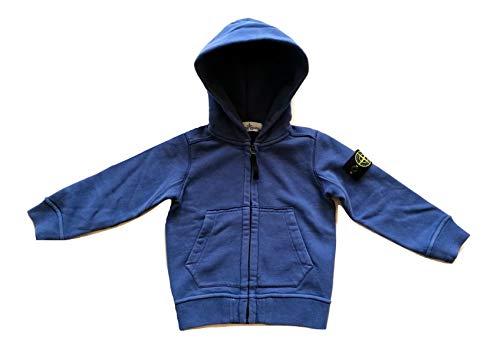 Stone Island Junior 691660640.V0024 - Sudadera con Capucha para niño, Color Azul
