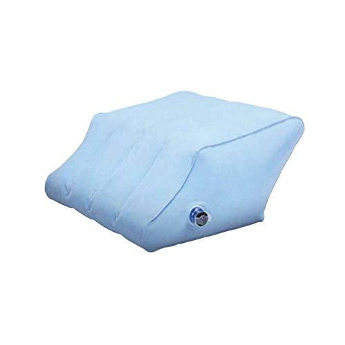 Almohadas inflables, cuña inflable para piernas, almohada ortopédica para elevar las piernas, reposapiés, cama, cuña, cojín de apoyo, reduce el dolor de espalda y mejora la circulación