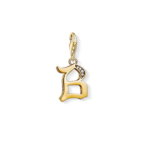 Thomas Sabo Damen-Charm-Anhänger B Buchstabe Gold Charm Club 925 Sterling Silber 1608-414-39