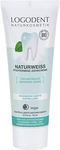Logona Bio NATURWEISS Pfefferminz Zahncreme (6 x 75 ml)