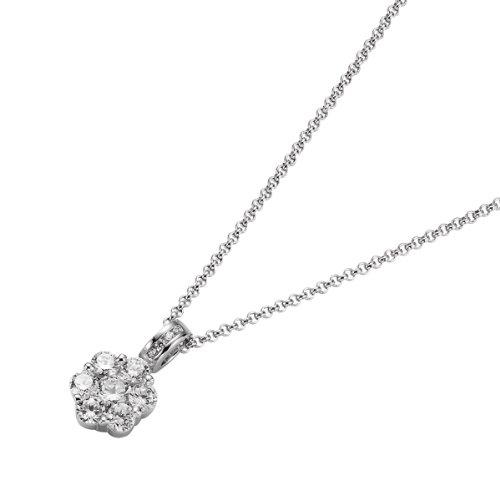 Giorgio Martello Milano Damen-Halskette 925 Sterling Silber rhod. Kette 40+3cm 908369430
