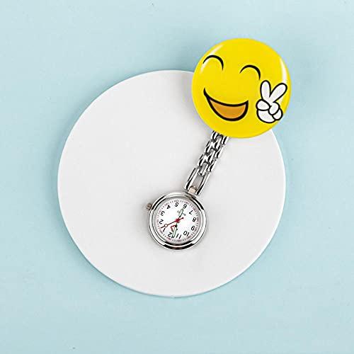 LLRR Relojes Bolsillo Números arábigos,Hangar portátil Digital para Estudiantes, Cofre médico impermeable-05,Mujeres médico Enfermeras Reloj