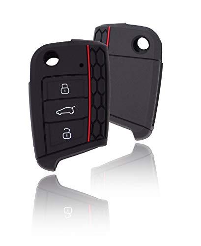 CONKOR Schlüsselhülle - Silikon-Hülle für Autoschlüssel, passend für VW Golf 7, Skoda, Seat - Effektiver Schutz, Auto-Liebhaber - Auto-Zubehör, Tuning, Gadgets