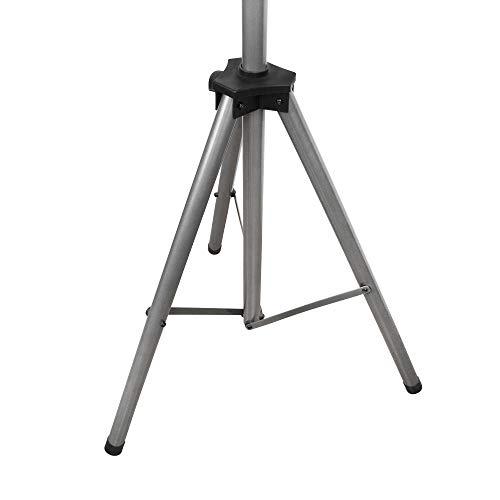 jarolift Dreibeinständer für Infrarotstrahler, Teleskop-Dreibein-Stativ Terrasse, stabil hitzebeständig, höhenverstellbar, wasserfest