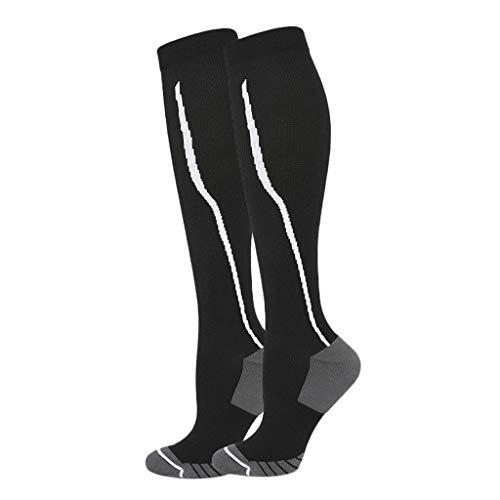 #N/a Par Calcetines de Compresión Medias hasta La Rodilla Calcetines de Manga - como muestra imagen, Estilo 1 S M