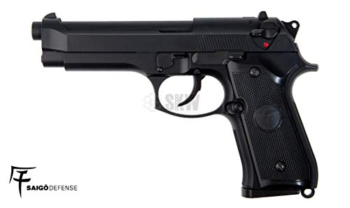 SAIGO Airsoft Pistola 92 - Gas- Semi Automático-Calibre 6mm. 0,5 Julio de Potencia