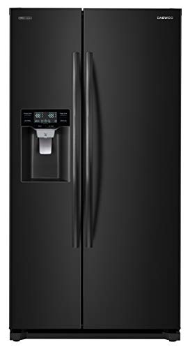 Image of Daewoo FRS-Y22D2B Side Refrigerator, Black, includes delivery and hookup: Bestviewsreviews