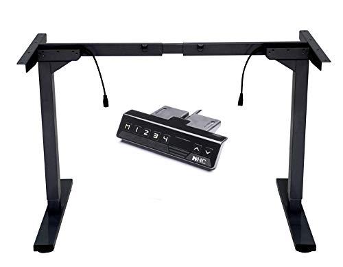 HC -SMART-HOME z regulacją wysokości elektryczny stojący czarny biurko/stół (tylko ramka), podwójny silnik, 4 pozycje pamięci, wytrzymałe biurko stojące ze stali z automatyczną klawiaturą pamięci