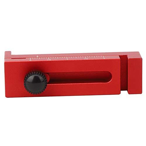 Calibre de separación de sierra, regla ajustable para carpintería alta, aluminio conveniente de alta precisión para entusiastas de la carpintería industrial