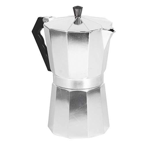 Koffiepot voor Thuis - Aluminium Achthoekige Koffieketel voor Coffee Shop en Office Lover - Koffiezetapparaat Moka Pot voor Home Coffee Shop Gebruik(600 ml)