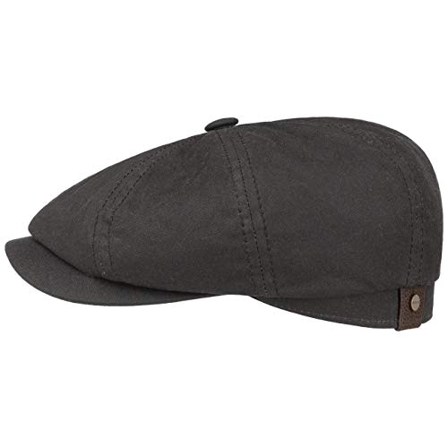 Stetson Gorra Hatteras Waxed Cotton Mujer/Hombre - Made in Germany protección contra...