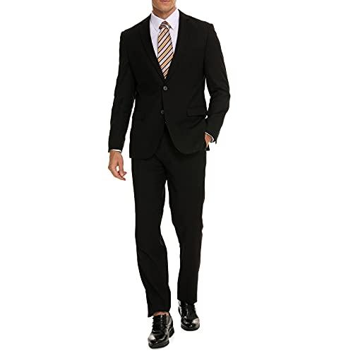 Henaet Black Slim Fit Suit