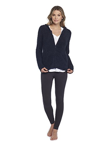 Barefoot Dreams CozyChic Women's Zip Up Hoodie Indigo -  B665