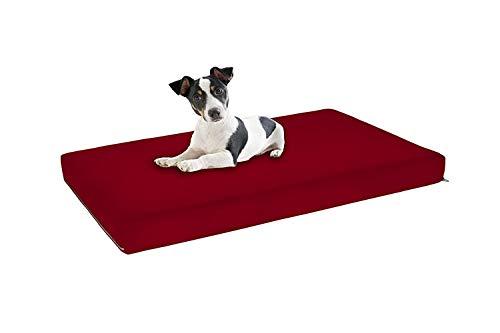 Italian Bed Linen Materassino Morbidoso, Esterno 100% Microfibra, Bordeaux, 100 x 60 cm