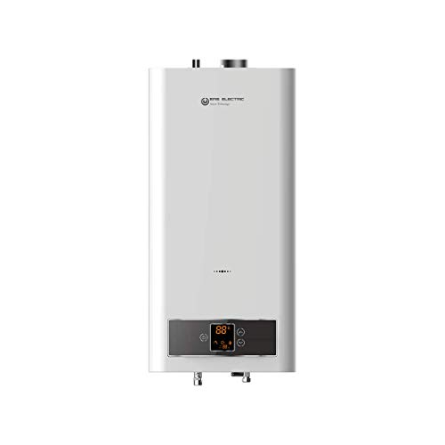 EAS ELECTRIC SMART TECHNOLOGY | EMG11NG | Calentador de Gas Natural estanco | Calentador de agua a gas natural | Filtro de agua extraible | Kit de salida de gases incluido | Pantalla digital