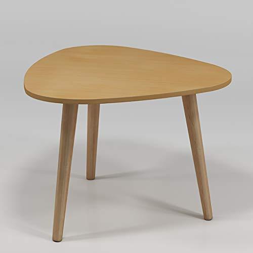 Kleiner tischgrill elektrisch Kleiner Beistelltisch mit Beinen aus Eukalyptus, dreieckiges Holz mit Holzwerkstoffplatte, kleiner Couchtisch aus Holz, hohe und niedrige zwei optionale kleine Tische kle