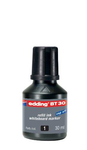 edding BT30 Whiteboardmarker Nachfülltinte - Inhalt: 30ml - Farbe: schwarz - Tusche für Whiteboard-Stifte - Flasche mit Tropfendosierer
