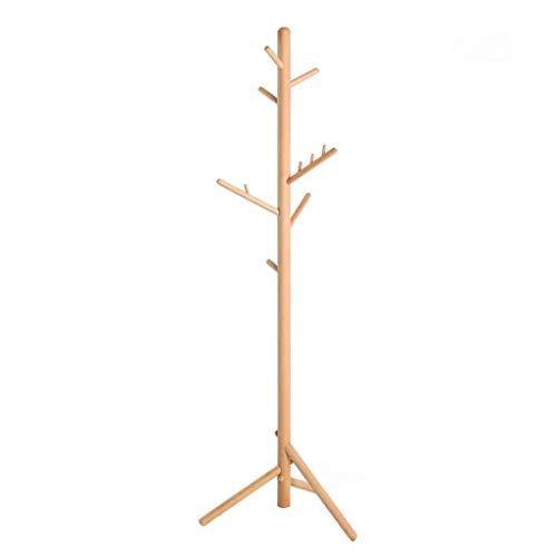 LICHUAN Perchero de madera maciza exterior conjunto de bastidores nórdicos minimalistas percha salón unipolar asamblea percha dormitorio fácil montaje