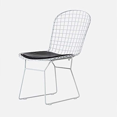 YUHT Barra de taburetes de Bar Taburetes, Sillas de Bar Tienda de té Europea Hueco Wire Chair Cafe Leche Silla de Comedor Silla de Oro Studio Sillón (los Colores: C)