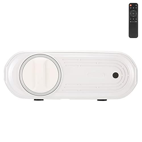 Proyector de películas 1080P Pearl White, U70 Proyector doméstico Smart Movie Entertainment Equipo de cine en casa con control remoto para teléfonos inteligentes Android Películas Laptop(EU)