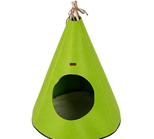 Kennelpet Tent Hondenhok Cathouse Yurt Yurt Massief Houten Opvouwbaar Warm Hondenhok