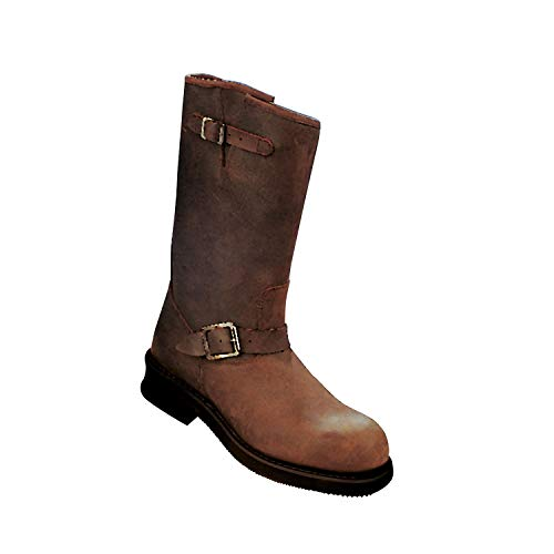 Kochmann Botas de exterior, color marrón, talla 42, nubuk, botas de caña para hombre y mujer