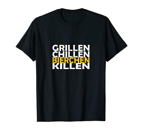 Grillen Chillen Bierchen Killen T-Shirt