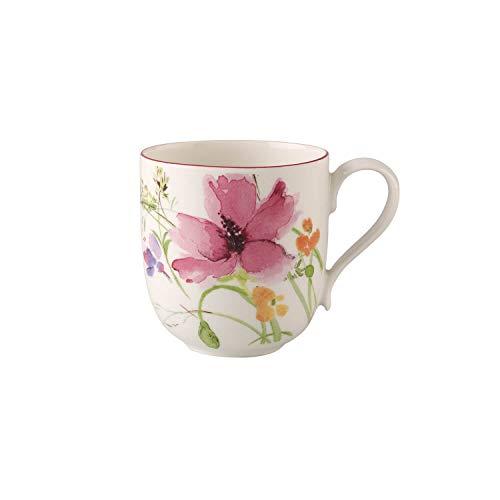 Villeroy und Boch Mariefleur Basic Kaffeebecher, 350 ml, Höhe: 9 cm, Premium Porzellan