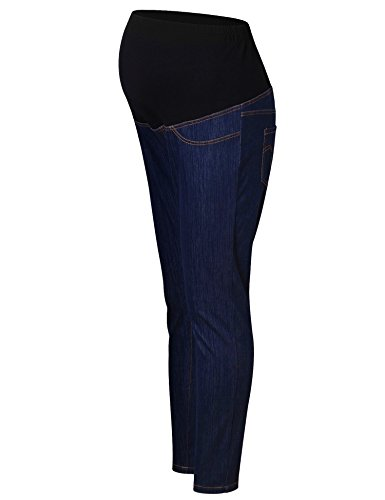 Maternity Jeans Pants Over The Belly Leggings Stretchy Skinny Leg Pants Blue Jeans XXL