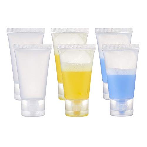 BENECREAT 30 STÜCKE 30 ml Durchsichtiges leeres nachfüllbares Reiserohr Flaschen zusammendrückbare Kosmetikbehälter Set mit Klappdeckeln für Cremereiniger Duschgel-Lotion