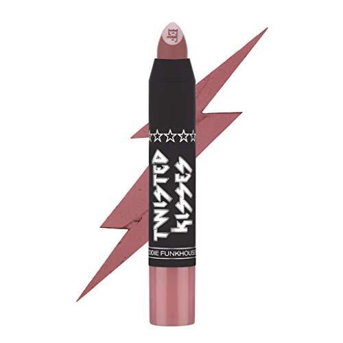 EDDIE FUNKHOUSER Twisted Kisses Matte Lip Crayon, Full Coverage Matte Lipstick (Kiss Me Twice)