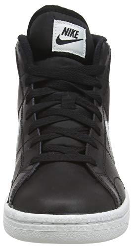 Nike Court Royale 2 Mid, Zapatillas Mujer, Negro Blanco, 38.5 EU
