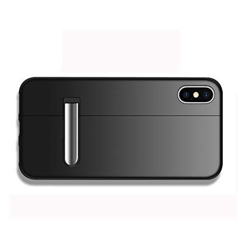 ZHANGHUI Funda Protectora Bicolor de Derecha e Izquierda Caja Protectora magnética de Empalme for el iPhone XR, con el Titular (Color : Color1)
