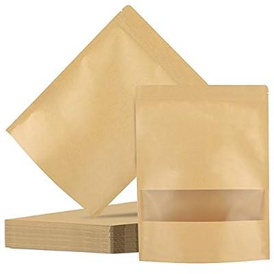 Kraft Stand Up Pouch Bags, Eusoar 50pcs 11.9 x ...