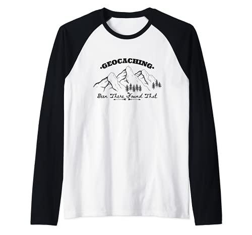 Geocaching Divertido Hombres Mujeres Jóvenes Geocacher Gift Camiseta Manga Raglan