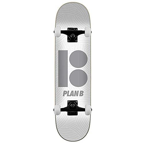 Plan B Team Texture - Skateboard completo, 20,3 cm, colore: Bianco