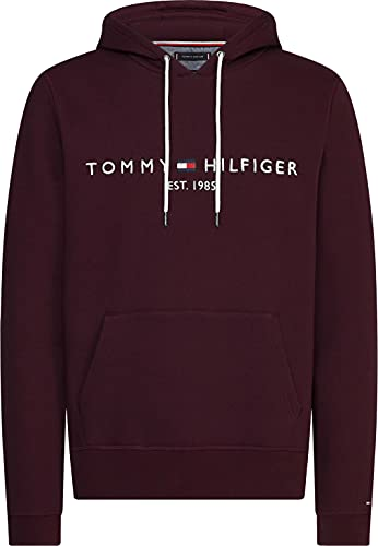 Tommy Hilfiger Herren Tommy Logo Hoody Pullover, Deep Burgundy, XXXL