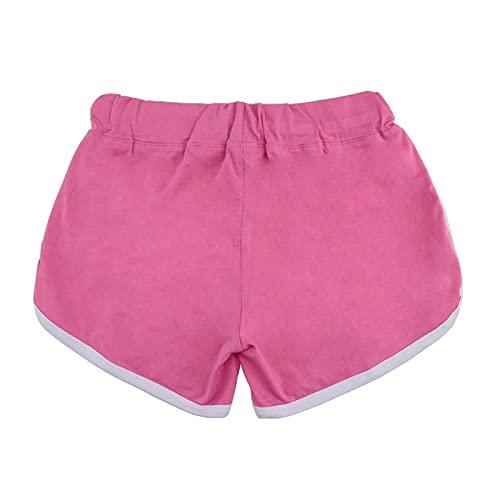 Shorts de Deporte Mujer Moda Mujeres Sports Shorts Yoga Shorts 2 Colores Tamaños múltiples Disponibles para Running Gym (Color : Pink, Size : M)