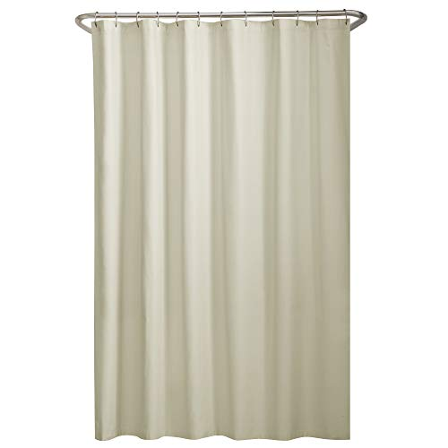 MAYTEX Water Repellent Fabric Liner Shower Curtains, 70' x 72', Bone