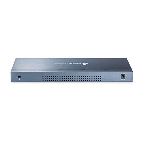 TP-Link TL-SG116 16-Ports Gigabit Netzwerk Switch (32 Gbit/S Switching-Kapazität, geschirmte RJ-45 Ports, IGMP-snooping) blau metallic & Amazon BasicsEthernet-Netzwerkkabel, RJ45, Cat6, 0,9m