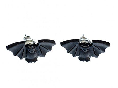 orecchini Bat Miniblings maschio animale pipistrello vampiro Dracula Halloween