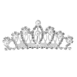 Pinzhi Silver White Set of Artificial Crystal Alloy Crown