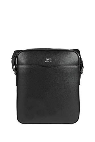 BOSS Herren Signature NS zip Signature Collection Reporter-Tasche aus Palmellato-Leder Größe One Size