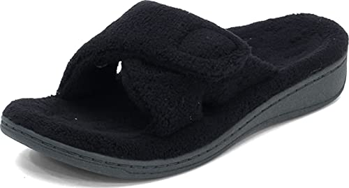 Vionic Women's Relax Slipper, Black, 9 M