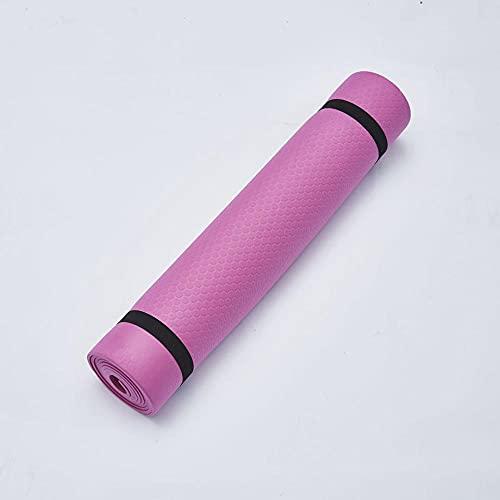 Colchoneta de ejercicio antideslizante,La estera de la aptitud de la estera de yoga de la línea de posición de dos colores evita el plegado de la zapatilla-red_173 * 61 * 0.6,Alfombra antideslizante