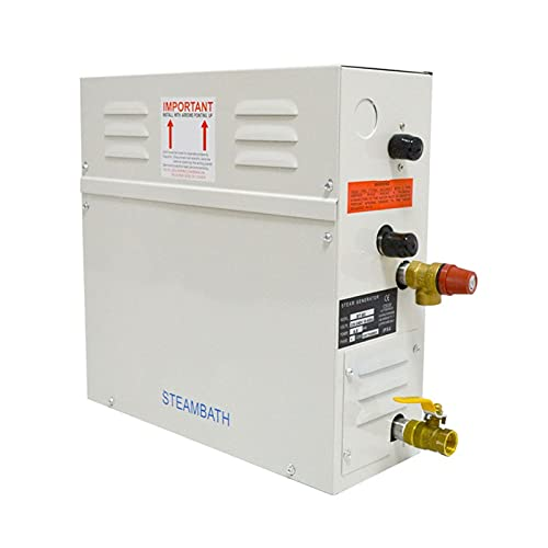 YXZQ Suministros de Sauna 2 1kw Máquina de Sauna Generador de Vapor Home Steam Room Machine Moder Stream Horno Equipo de Sauna Comercial Controlador Digital Generador de Vapor para Sauna