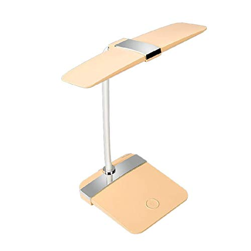 NXYJD Lámpara de escritorio, el cuidado de los ojos Lámparas de mesa de estudio, lectura y dormitorio, regulable Lámpara de la oficina con el puerto de carga USB, dormitorio de noche LED luz de lectur