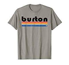 The perfect Burton Michigan souvenir or gift! This retro design has Burton in a cool retro font with colored stripe underlining. This graphic is distressed to give it a vintage classic look that everyone will love! Be ready for the compliments whenev...