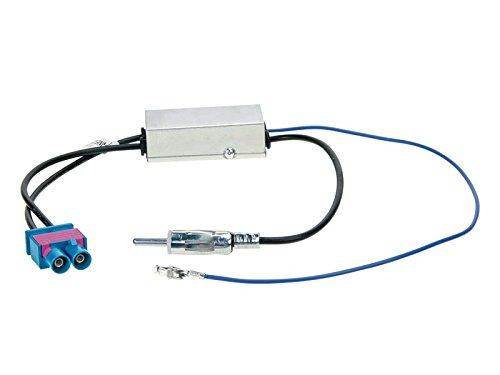 ACV 1524-77 DIN dubbele Fakra antenne-adapter/fantoomvoeding voor Audi/Seat/Skoda/VW