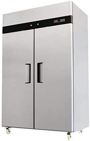 52 Double 2 Door Side By Side Stainless Steel Reach in Commercial Refrigerator 49 Cubic Feet product image